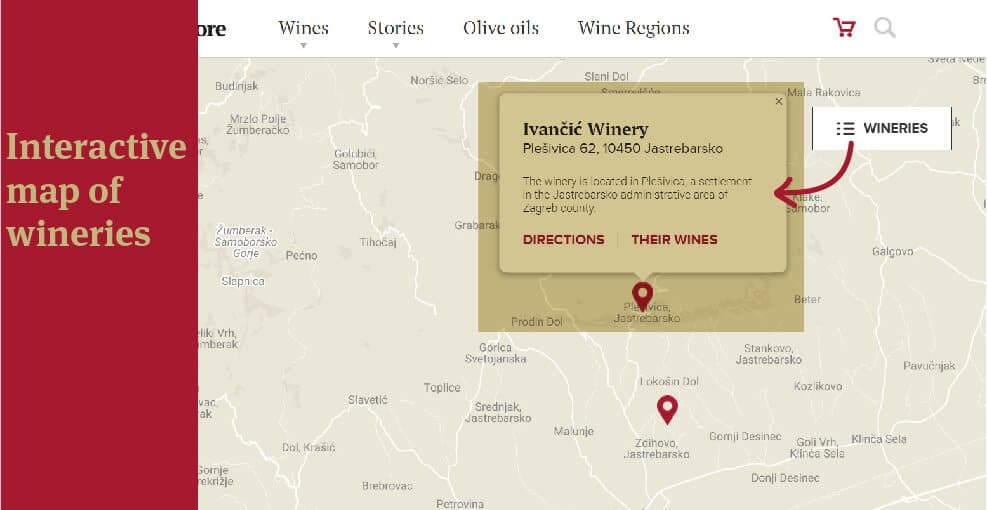 Interactive Map of Wineries