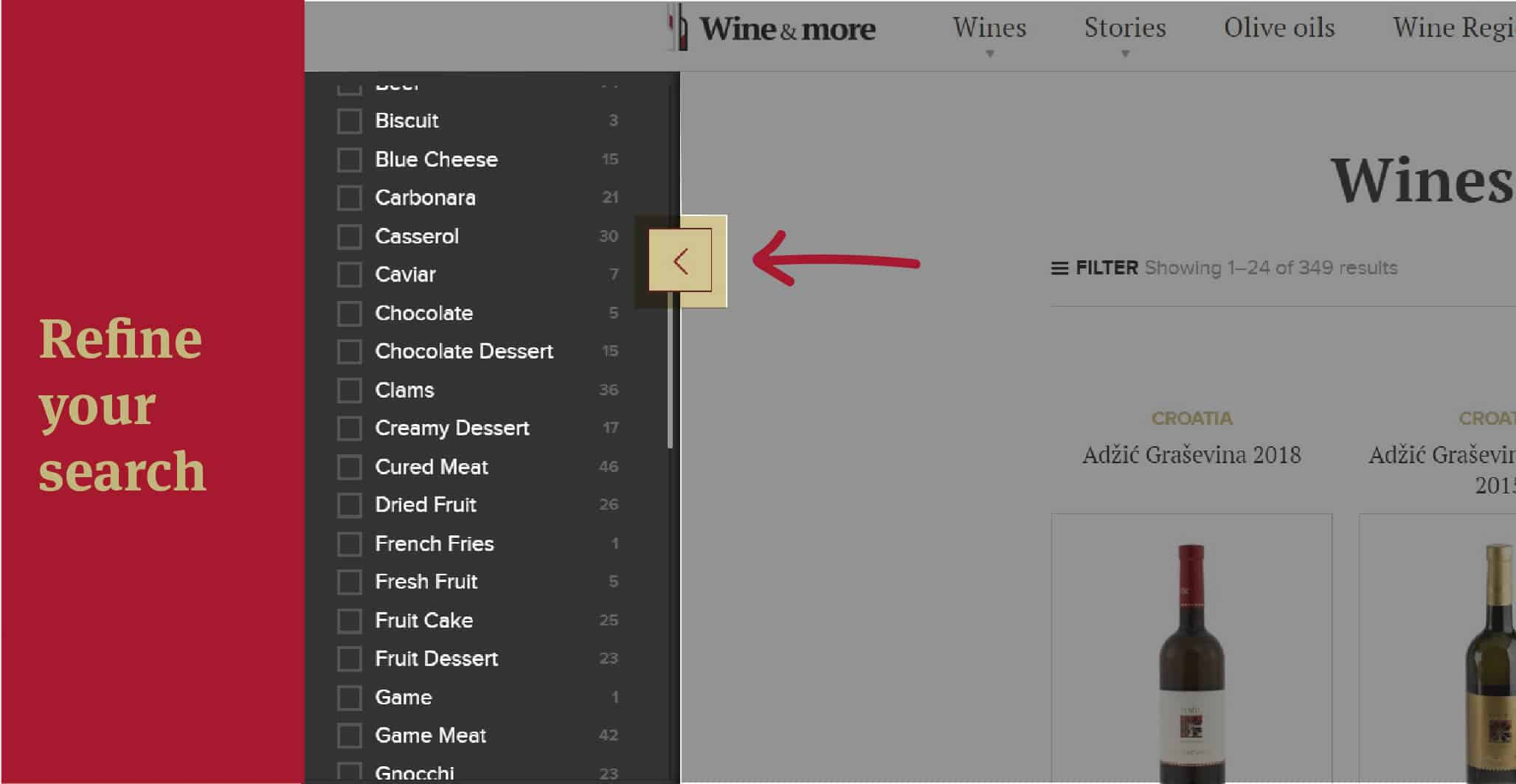 Refine your wine search