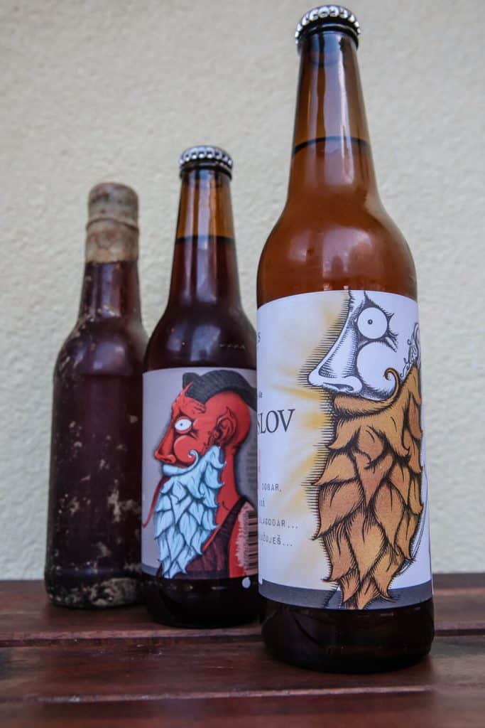 Primarius beer bottles