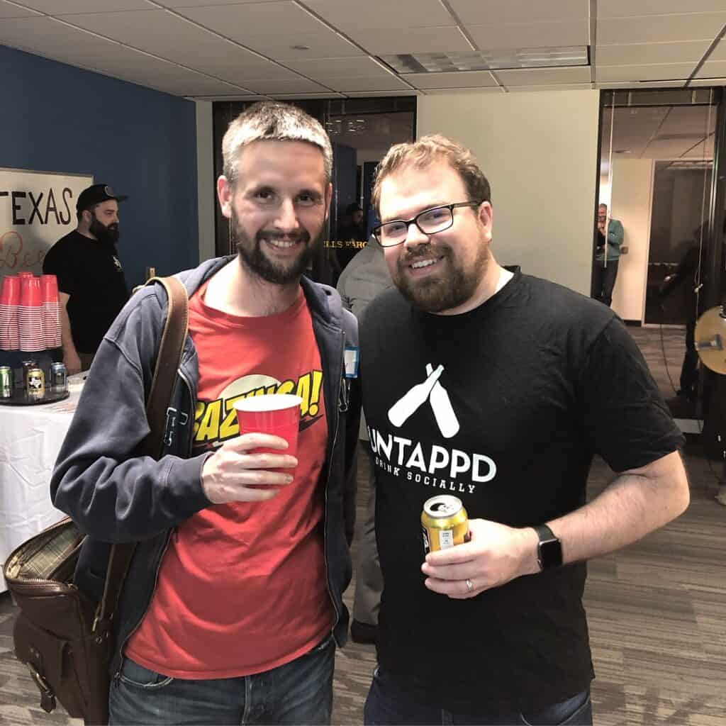Ivan Kovacevic from Wine&more and Greg Avola of Untappd